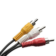 1X 3 RCA Male to 3 RCA Male Plug Splitter Audio Video AV Adapter Cable New