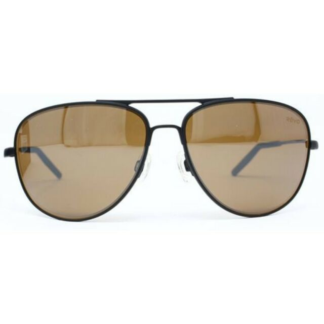 f3820cb58d REVO Windspeed Re 3087 Polarized Aviator Sunglasses Matte Black ...