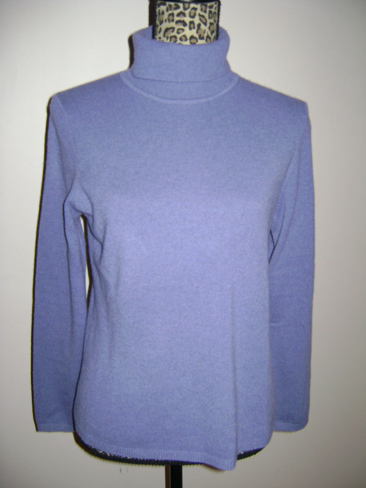 CHARTER CLUB WOMEN SWEATER TOP BLOUSE SHIRT size M PURPLE 2 PLY 100% CASHMERE