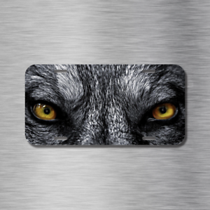 Wolf Dog Pero Lobo eyes werewolf Vehicle License Plate Front Auto Tag New Canine