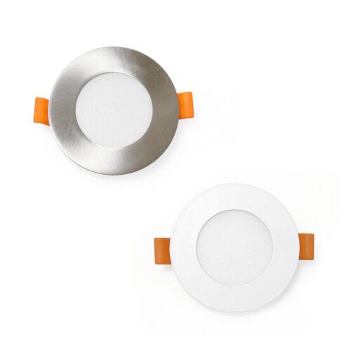 LED Einbaustrahler rund 3W 6W 12W weiß o.silber Einbauleuchte Spot Deckenleuchte