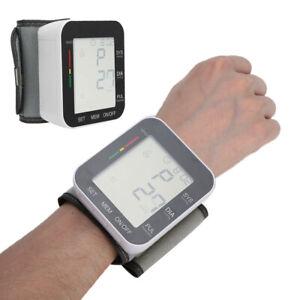 LCD Voice Wrist Digital Blood Pressure Monitor Meter Sphygmomanometer English A+