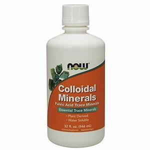 NOW Foods Colloidal Minerals Original, 32 floz, Fulvic Trace Elements Supplem.