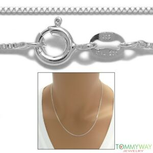 3ee2b0e356061 Image is loading 925-Sterling-Silver-Box-Chain-Necklace-1-2mm-