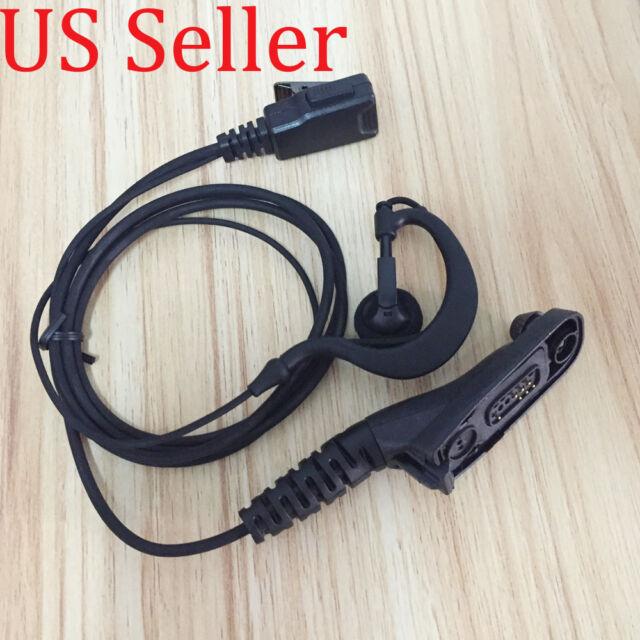 2 wire Clip Ear Headset earpiece for Motorola APX4000 APX6000 APX6500 APX7000