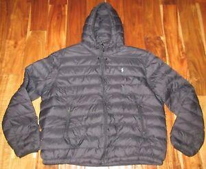 Polo Ralph Lauren Men's Packable Hooded Down Jacket Black ...