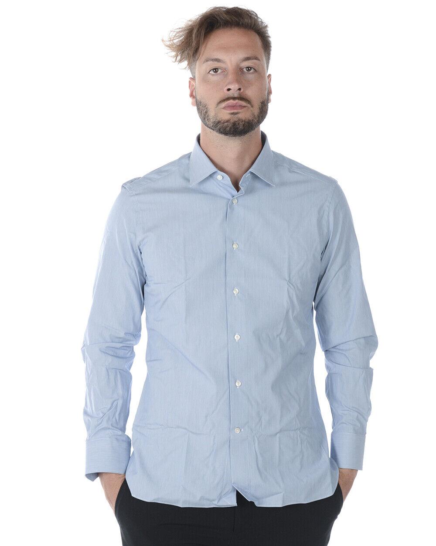 Zegna hemd baumwolle Man Light Blau 9MSOJI301057 Sz.42 MAKE OFFER