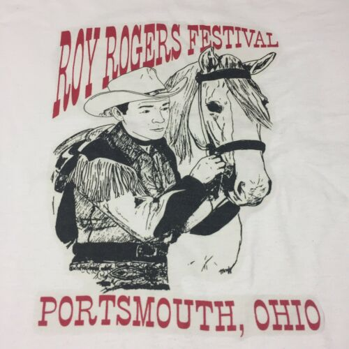 Vintage Roy Rogers Festival 2-sided Large T-shirt