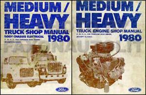 1980 ford big truck shop manual set f600 f700 f800 f900 c l ln rh ebay com Ford L6000 1995 Ford L8000