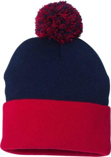 RE0174 ZUZIFY Pom Pom Knit Winter Beanie