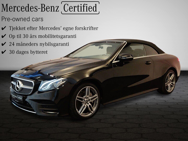 Mercedes E350 2,0 AMG Line Cabriolet aut. 2d - 894.900 kr.