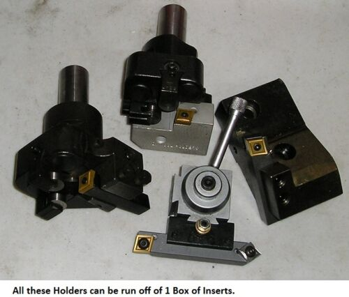 """1//2/"""" All in One Turning Tool Bit for Lathe/'s with 2 Inserts"""