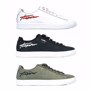 362752 Puma x Trapstar Clyde Bold White Black Olive Men s Shoes  7ba367fa5