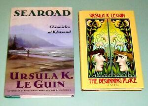 2-Books-Ursula-LeGuin-BEGINNING-PLACE-1980-First-Edition-SEAROAD-Fantasy-HUGO