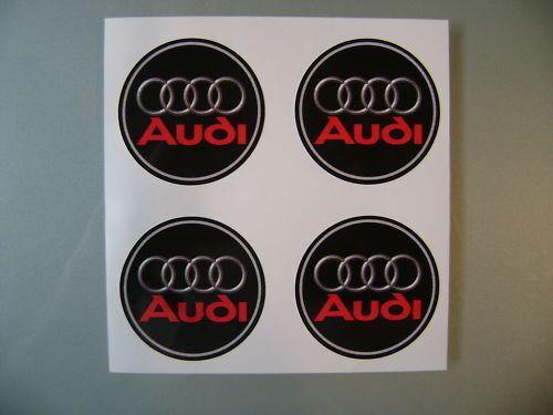 4x 55 mm ajusta a Audi Rueda pegatinas Centro Insignia Centro Trim PAC Hub Alloy R