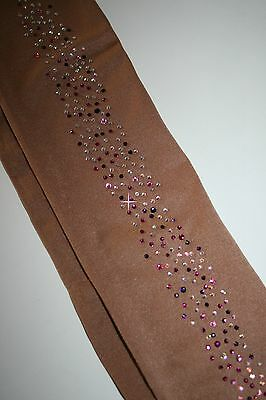 OVER  BOOT ICE SKATING TIGHTS PINK FIZZ USING TOP QUALITY CRYSTAL ELEMENTS