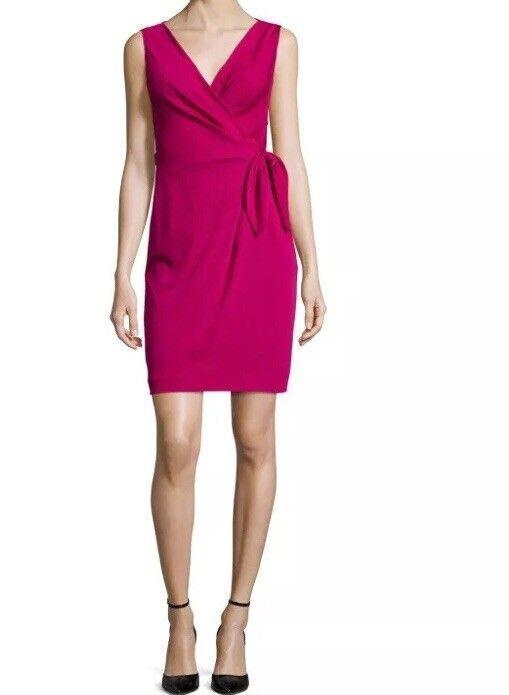 NWT Diane von Furstenberg Sleeveless Bella Wrap Dress, Raspberry Coulis Größe 10