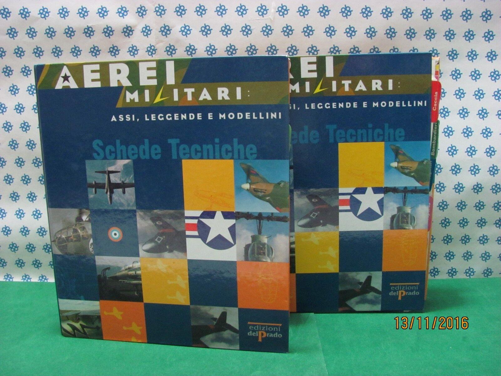 AEREI MILITARI   2  Volumi  completi - Assi , Leggende   -  Del  Prado