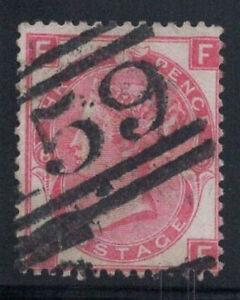 Gran Bretagna 1867 MER. 28 timbrato 80% 3 pence, Regina Vittoria, 8