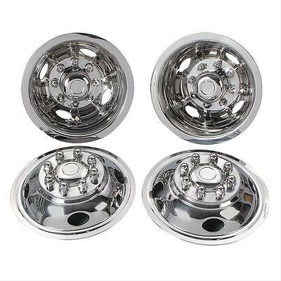 "Wheel Covers CHEVY C3500 PICKUP 16/"" 8 Lug Bolt On 4 Hole stainless steel new"