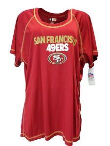 NFL-San-Francisco-49ers-Women-039-s-Scoop-Neck-Tee-Red-Plus-SizeS-1x-2x-3x-nwt