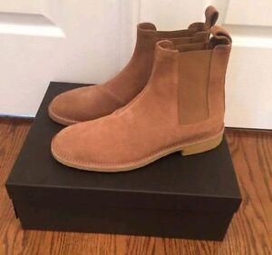 f0de874d9a204 Details about Bottega Veneta chelsea boots camel suede men 43 size 10