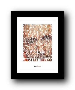 BLUR The Universal  ❤  song lyrics typography poster art print #2