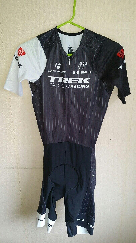 Skinsuit Leopard Trek team cycling zeitfahranzug radtrikot Large uci aerosuit