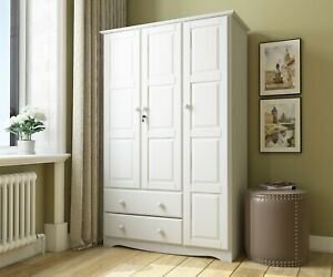 Details About 100% Solid Wood Grand Wardrobe/Armoire/Closet By Palace  Imports, 5 Colors
