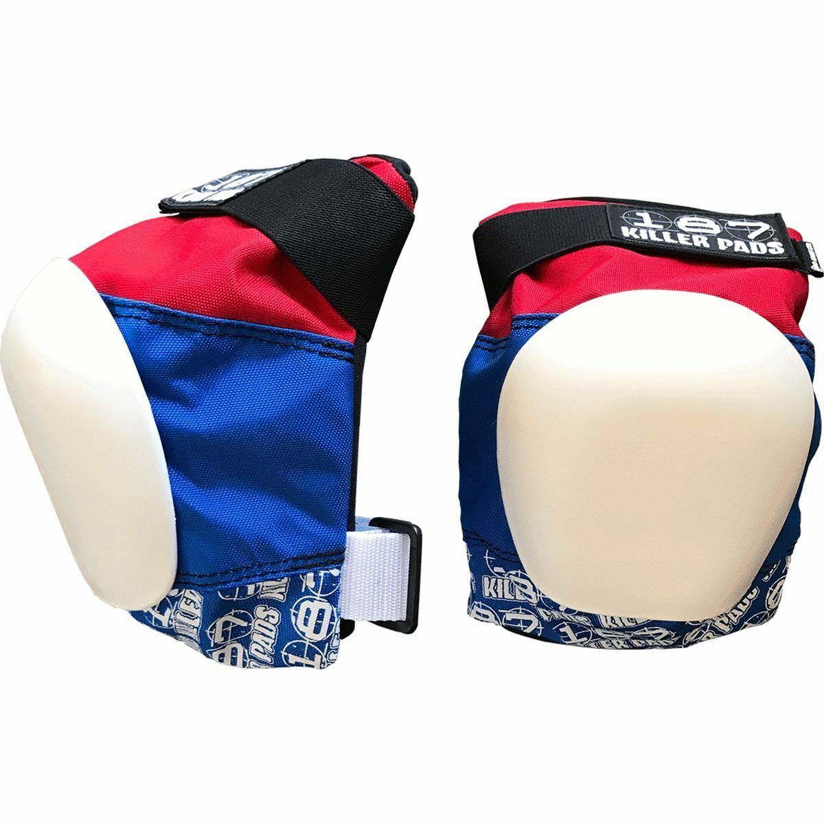 187 Pro Knee Pads Xl-Red White blue