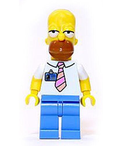 NEW LEGO Figure Simpsons Homer Simpson Tie and Badge 71006 Simpson House