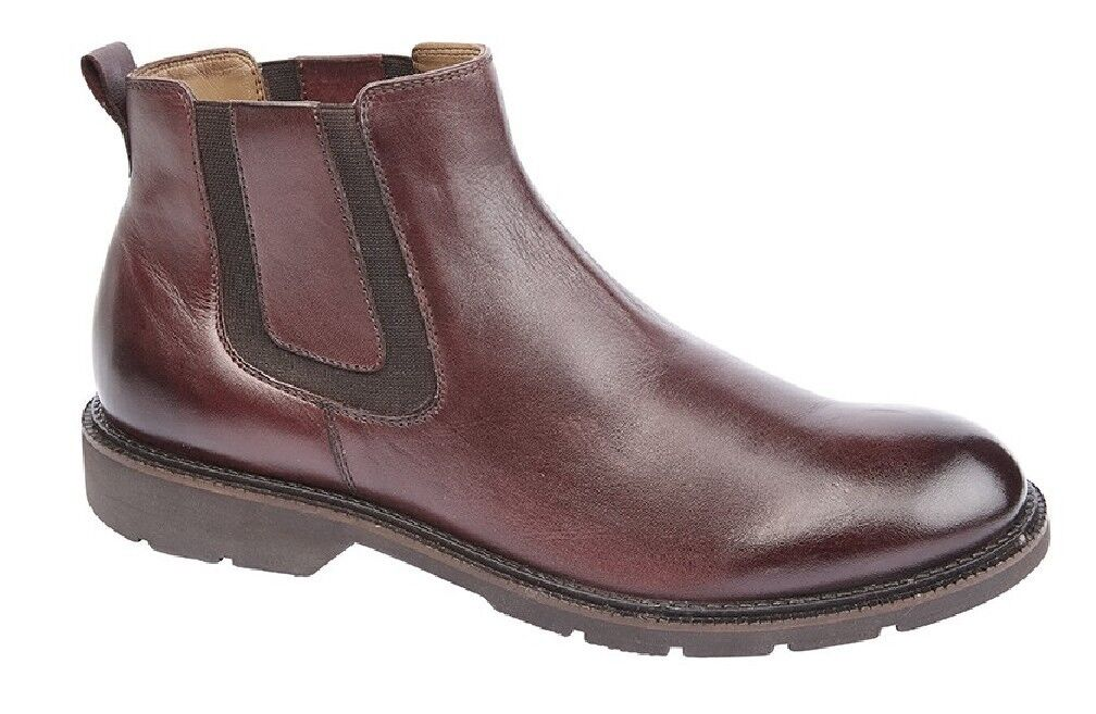 Hombre Fashion botas Leather Twin Gusset Ankle Ankle Ankle botas Oxblood Burnished 3b5960