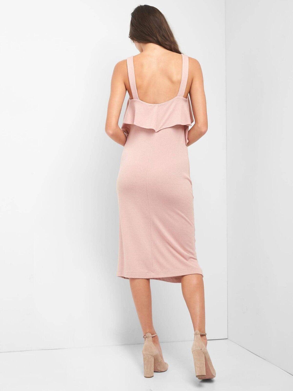 b85eeb58fd0 ... NWT Gap Softspun Ruffle Midi Dress