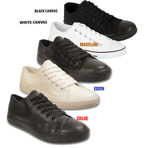Womens-Ladies-Trainer-Faux-Leather-Girls-School-Trainers-Sneakers-Shoes-Size