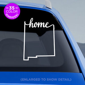 New-Mexico-State-034-Home-034-Decal-NM-Home-Car-Vinyl-Sticker-add-heart-to-a-city