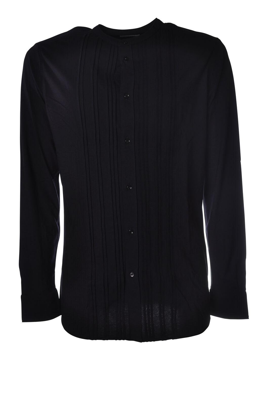 Paolo Pecora - Camicie-Camicie coreana - Uomo - Blu - 5217508G184259