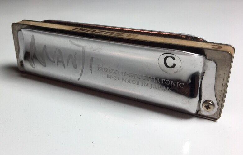 VINTAGE MANJI Suzuki Harmonica Key of C, 10-Hole Diatonic M-20 - Made in Japan