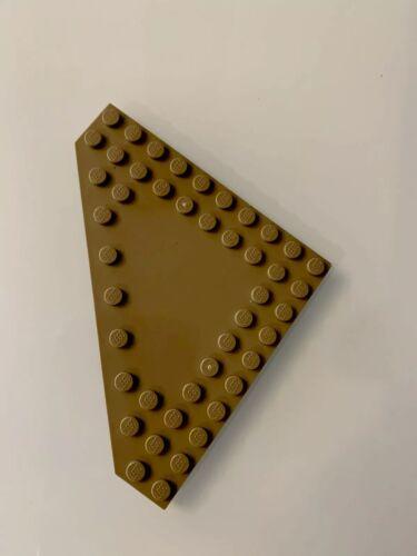LEGO 1 Dark Tan 10 X 10 Dot Flat Wedge Base Plate Part