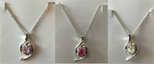 Ladies Womens Angel 18K White Gold Plated Gemstone Necklace FREE P/&P