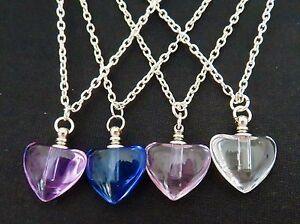 BEAUTIFUL GLASS HEART VIAL NECKLACE RICE MEMORIAL PERFUME URN 24 CHAIN GIFT BOX - <span itemprop=availableAtOrFrom>Kent, United Kingdom</span> - WE WILL ONLY REFUND POSTAGE ON RETURNED GOOD'S IF WE MADE A MISTAKE IN THE DESCRIPTION. Most purchases from business sellers are protected by the Consumer Contract Regulations 2013 which giv - Kent, United Kingdom