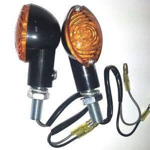 Blinker-Anzeigen-Richtung-LED-Motorrad-Universal-Roller-Custom-Naked-Schwarz