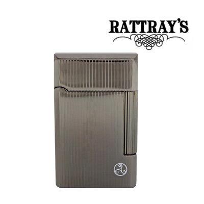 NEW Rattrays Soft Flame Pipe Lighter Bel Gunmetal Stripes