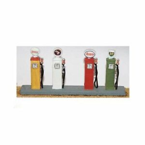 4-x-1940-60-s-Petrol-Pumps-OO-HO-gauge-Unpainted-Langley-F115