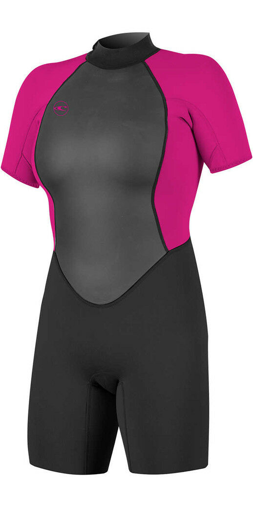 O'neill Reactor II 2mm Ladies Shorty BZ Spring Ladies Wetsuit Blk Berry