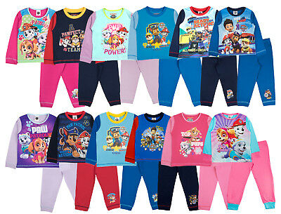 Nickelodeon Paw Patrol Pyjamas Boys Girls 2 Piece Full Length Pjs Set Kids Size