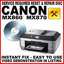 Canon MX860 MX870 - Fault Reset : Flashing Light Error Fix Disc 5b00 waste error