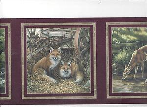 Wallpaper Border Fox Deer Wolves Wolf Bear In Frames New Arrival