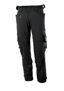 Mascotte 46 Taille X 37 Jambe Mesurée Noir Stretch Pantalons De Travail Pantalons Genou Pad Poches-afficher Le Titre D'origine Les Clients D'Abord