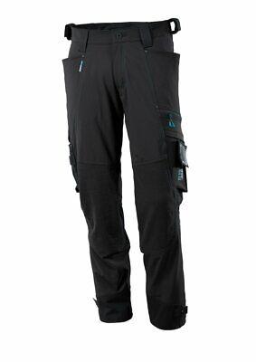 Abile Mascotte Girovita 46 X 37 Gamba Misurata Nero Pantaloni Da Lavoro Stretch-ginocchio Pad Tasche-mostra Il Titolo Originale