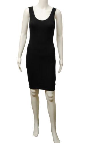 Débardeur b.c long robe débardeur moulante en lycra stretch noir taille 6 à 24 dames V110